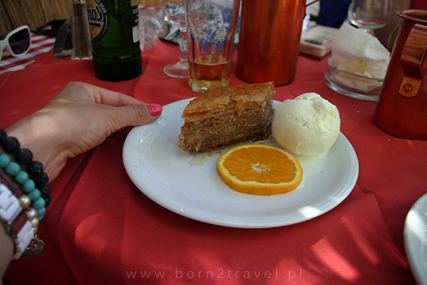 """A na koniec grecki deser. ;) Wakacyjny """"cheat day""""!"""