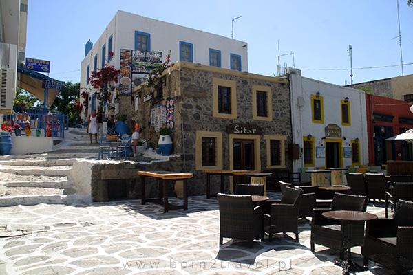 Restauracje w centrum Kos.