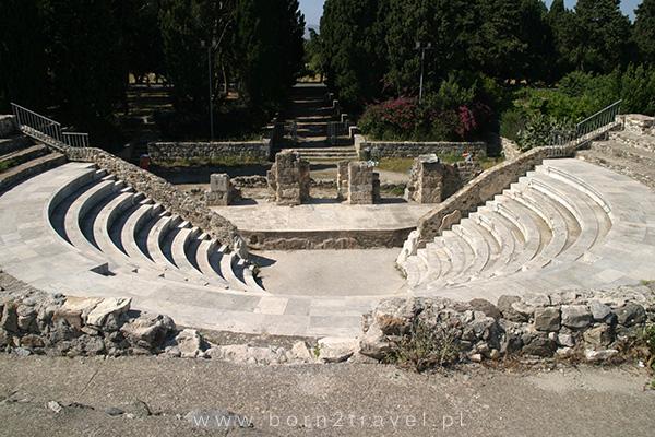 Pozostałości starożytnego rzymskiego Odeonu.