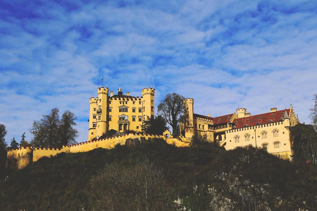 Zamek Hohenschwangau, w którym wychowywał się Ludwik II.