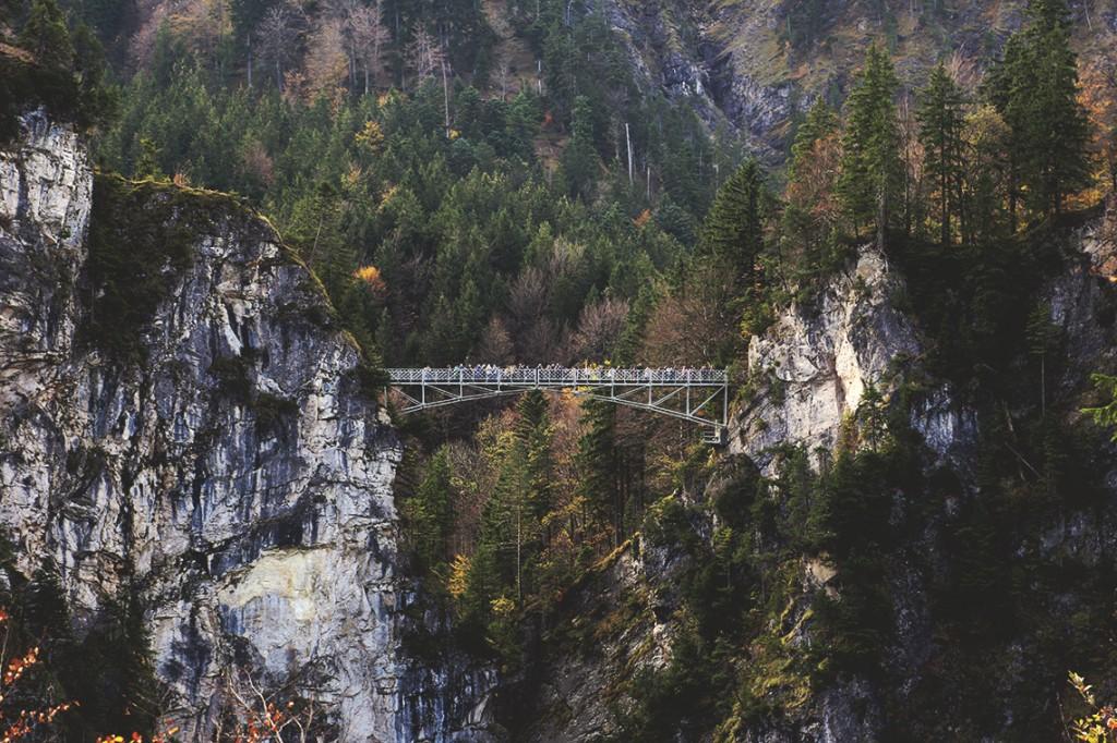 Marienbrücke, czyli Most Marii. W latach 50. XIX w. zbudował go dla swej żony Maksymilian II, ojciec Ludwika II.