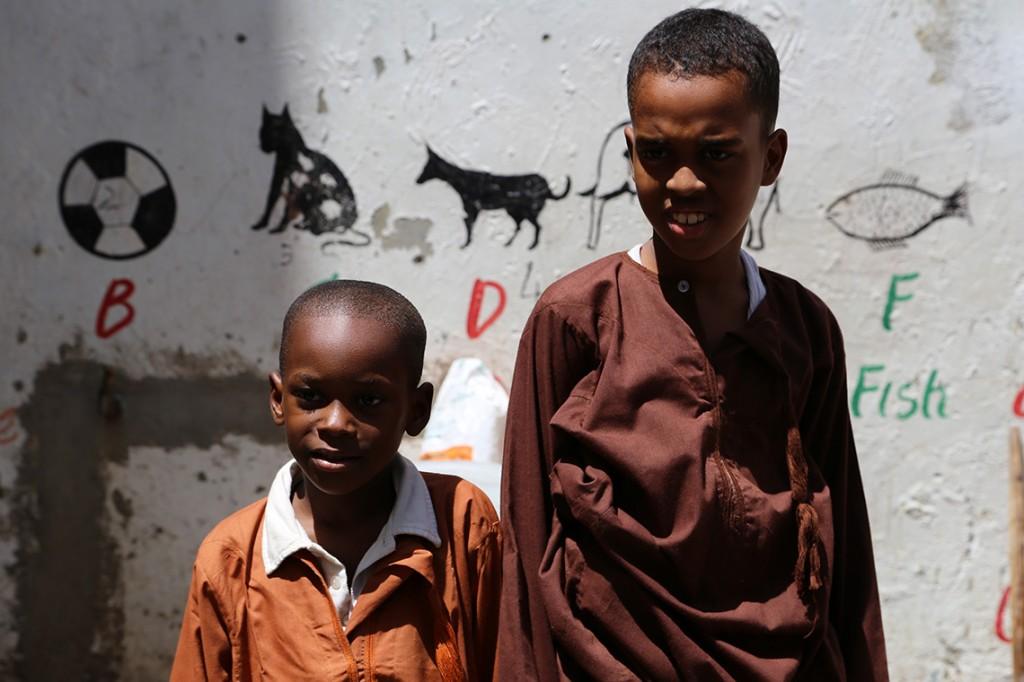 Dzieciaki z przedszkola w Mombasie, Kenia 2013.