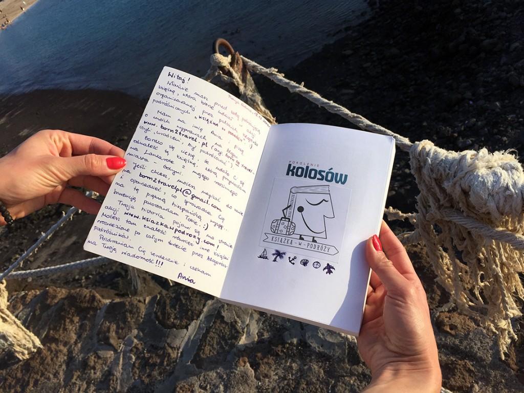 Pierwszą książkę w ramach akcji Książka w podróży zostawiłam w Playa Blanca na Lanzarote.