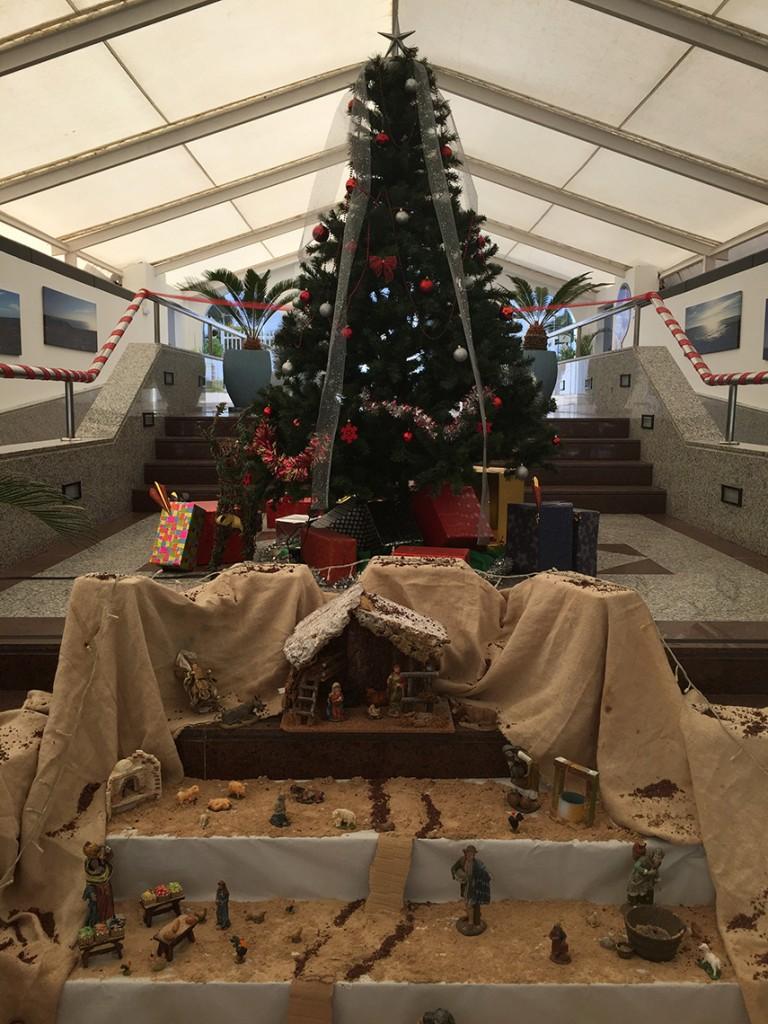 Bożonarodzeniowa szopka w hotelu Relaxia Lanzasur Club.