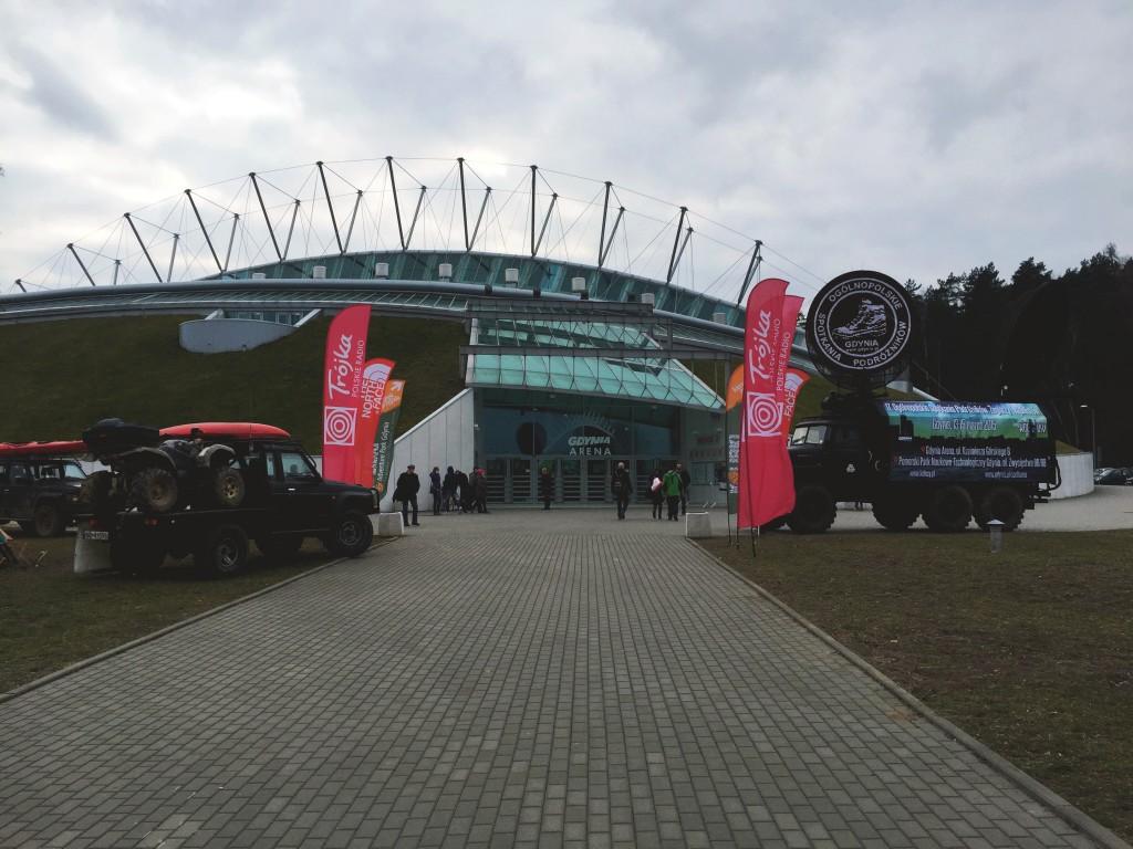 Wejście do obiektu Gdynia Arena, w którym co roku odbywają się Kolosy.