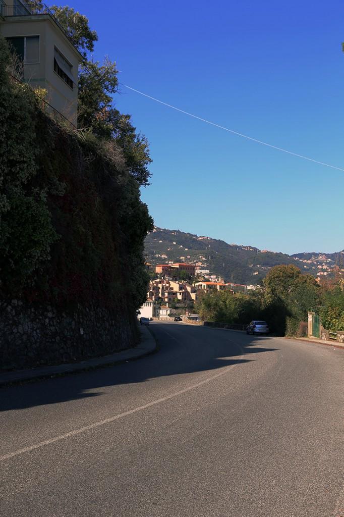 Cały czas pod górę - droga prowadząca z La Spezii do Cinque Terre.