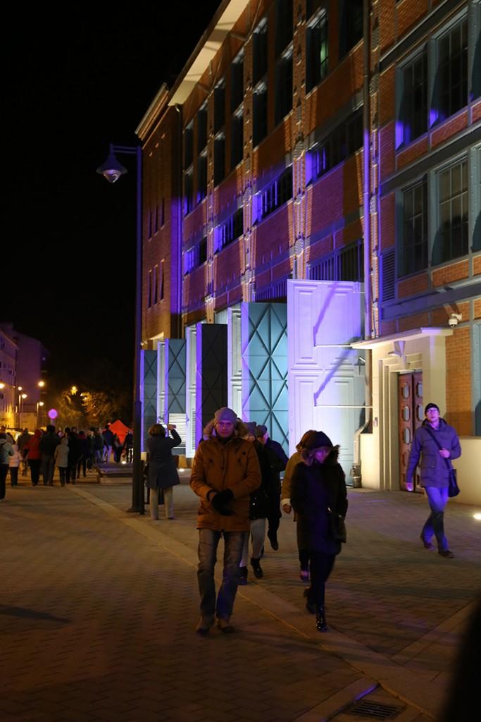 Podświetlone elementy EC1 podczas Light Move Festival.