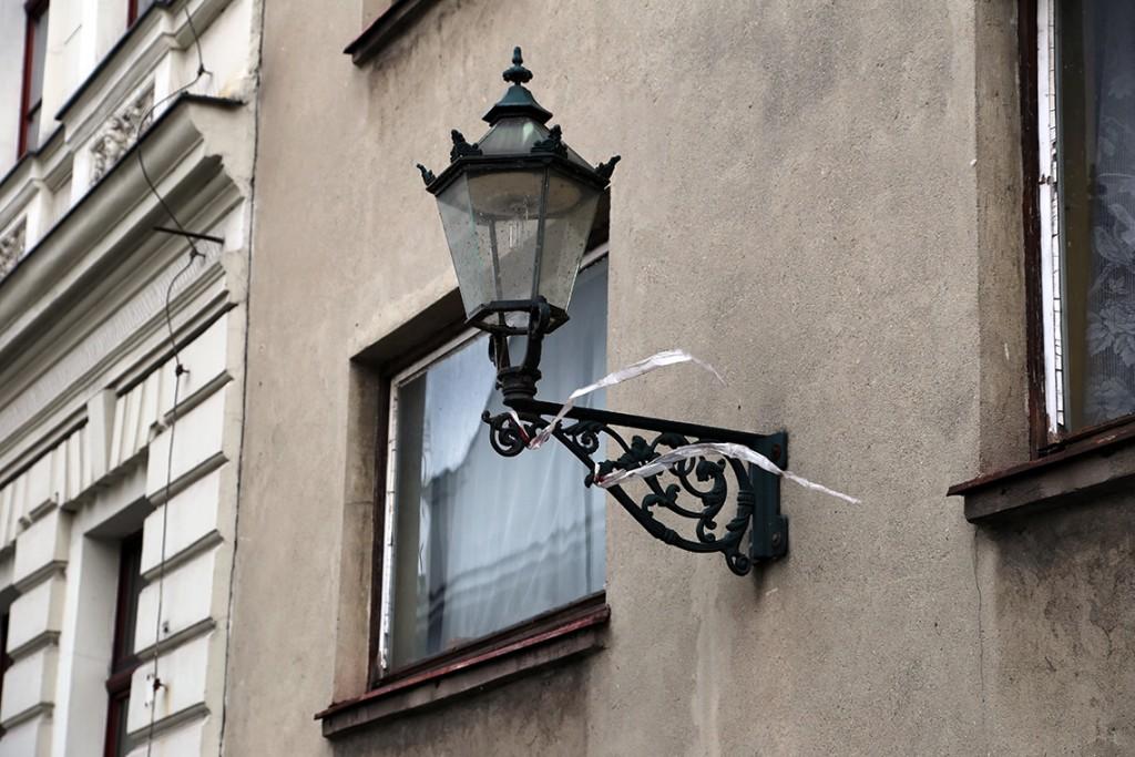 Jedna z cieszyńskich latarni.