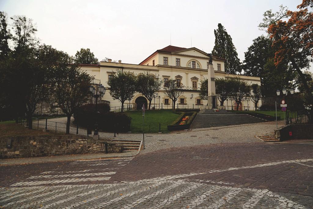 Pałac myśliwski, w którym spaliśmy.