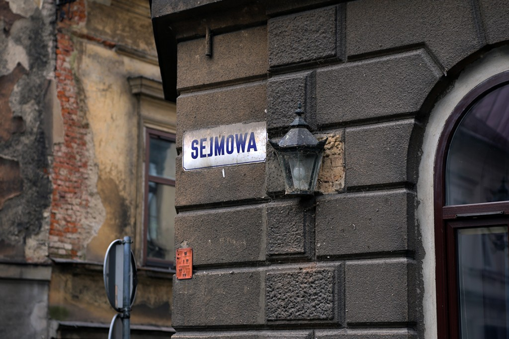 Ulica Sejmowa.