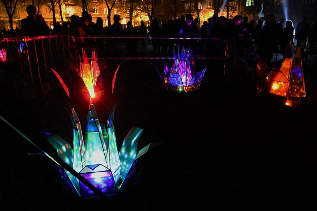 Egzotyczne (albo raczej kosmiczne?) rośliny na czas Light Move Festival wyrosły w łódzkim parku... :)