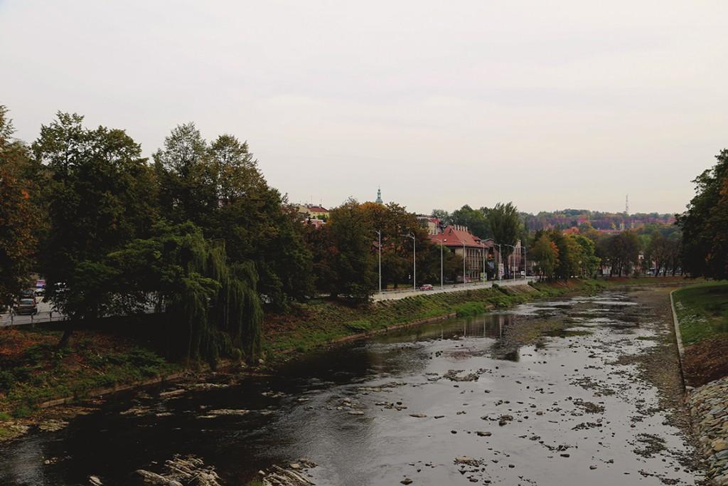 Rzeka Olza, granica polsko-czeska.