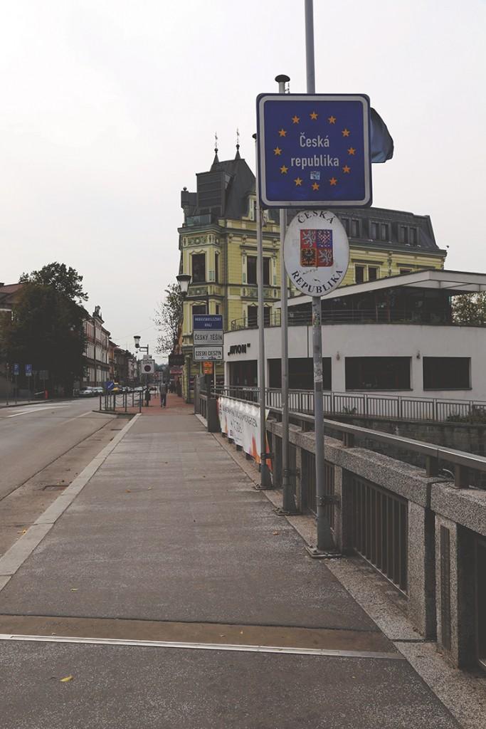 Most Przyjaźni, granica polsko-czeska.