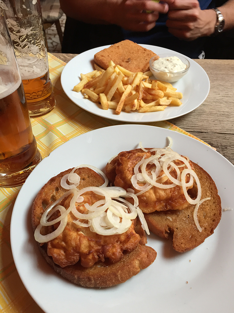Czeskie jadło w restauracji u Huberta.