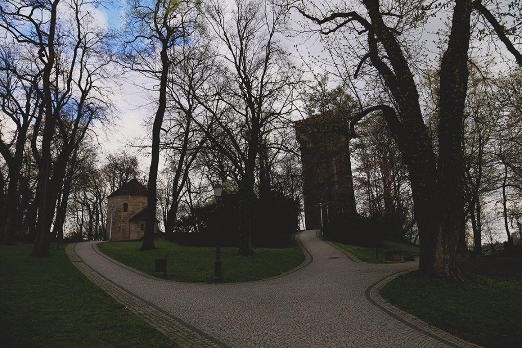 Cieszyńskie Wzgórze Zamkowe w wiosennej odsłonie.