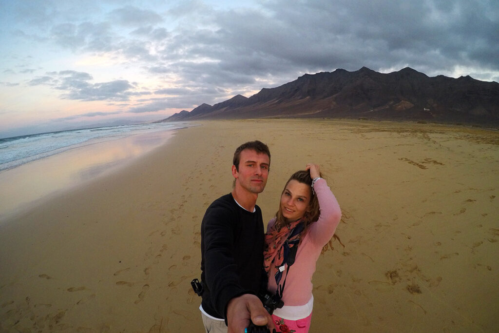 Zachód słońca na plaży Cofete, Fuerteventura 2018