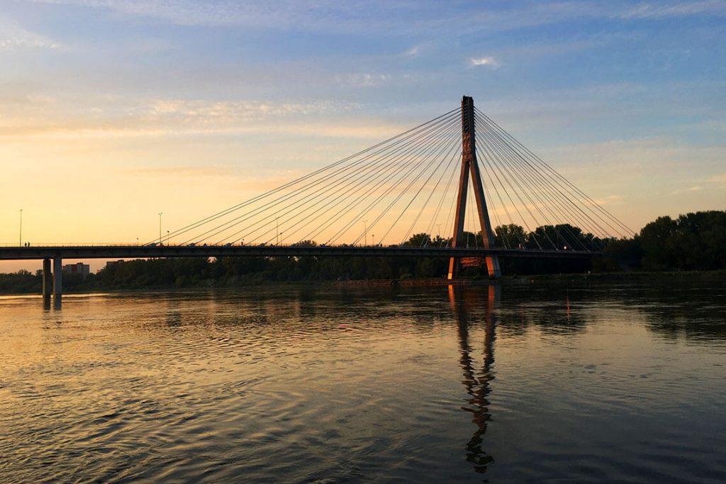 Zachód słońca nad Wisłą, Warszawa 2018