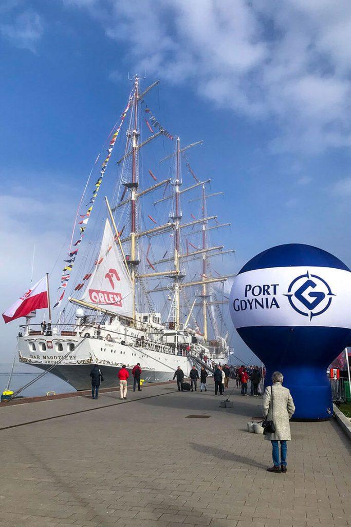 Dar Młodzieży po Rejsie Niepodległości w Gdyni
