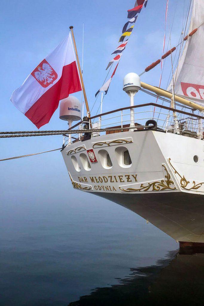 Rufa statku - Dar Młodzieży Gdynia