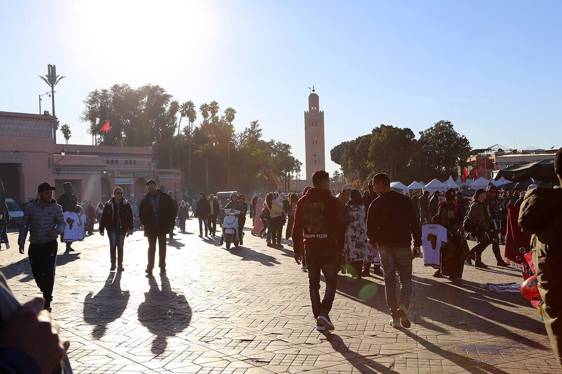 Marrakesz, Maroko 2019. Plac Jemaa el-Fna