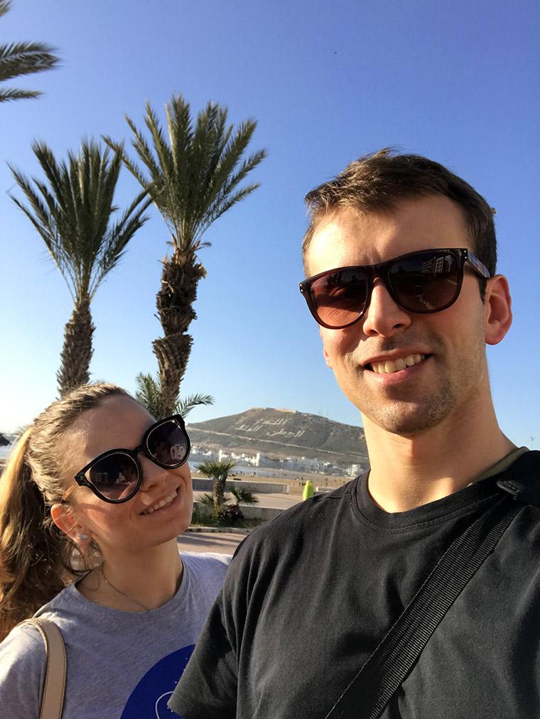Agadir - pierwsze selfie na marokańskiej ziemi ;)