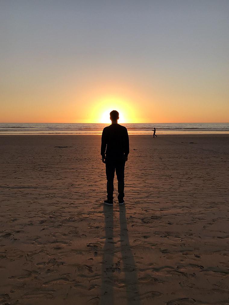 Boski Ostrowski :) o zachodzie słońca na agadirskiej plaży