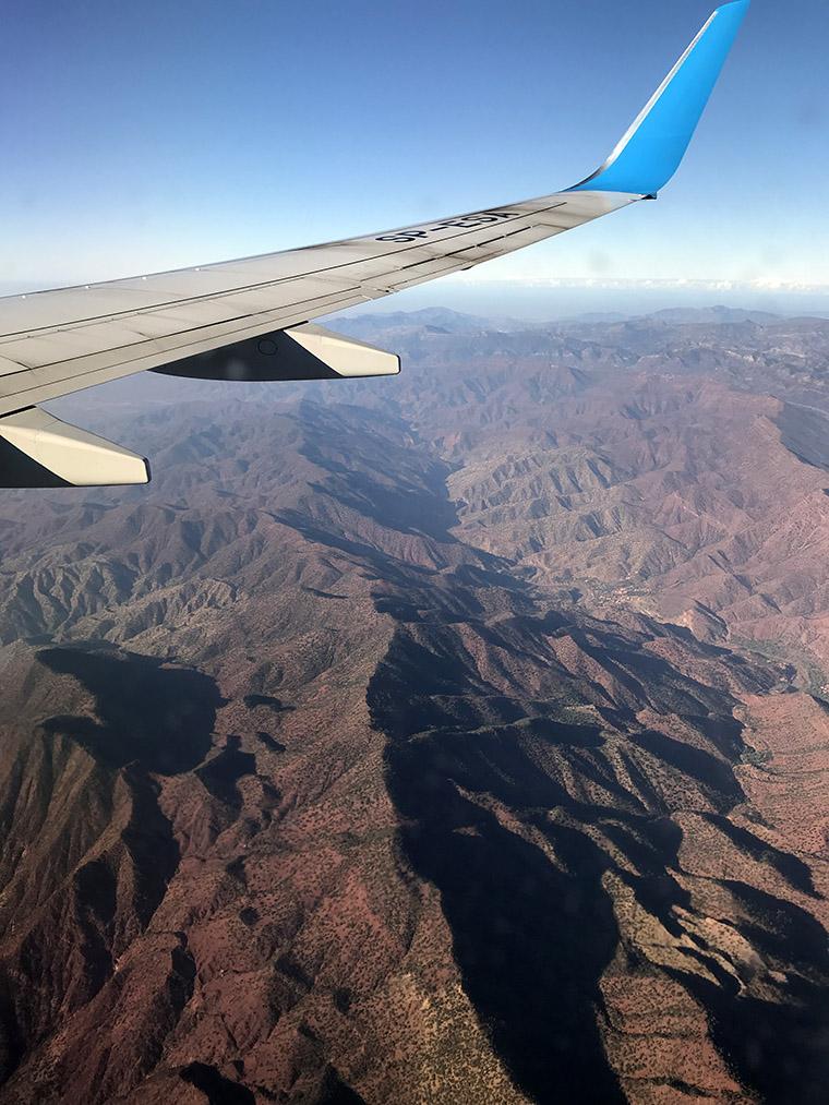 Góry Atlas widziane z samolotu. Za to właśnie kocham miejsca przy oknie... ;)