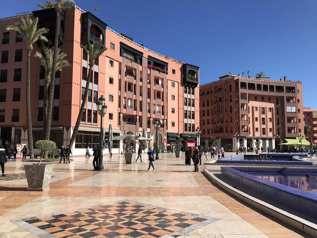 Nowoczesna dzielnica Gueliz w Marrakeszu