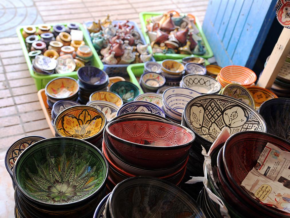 Marokańska ceramika w miejscowości Essaouira