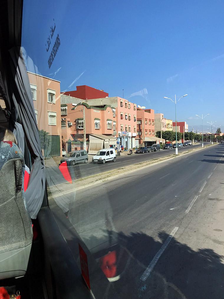 Ait Melloul, droga z lotniska do Agadiru
