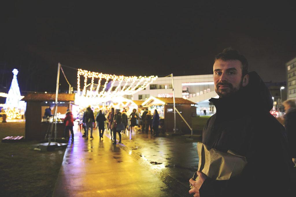 Tomek w drodze na Jarmark Świąteczny w Gdyni :)