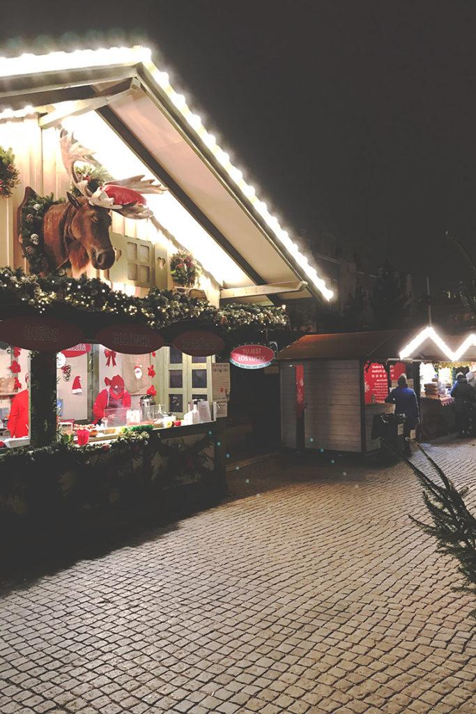 Łoś Lucek na Jarmarku Bożonarodzeniowym w Gdańsku