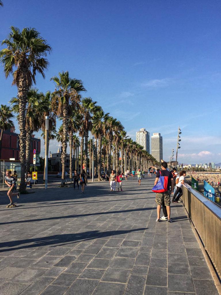 Barcelona - Passeig Marítim de la Barceloneta, 21 września 2016