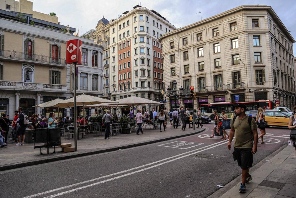 Barcelona - Plaça de l'Àngel i Via Laietana, 27 września 2016