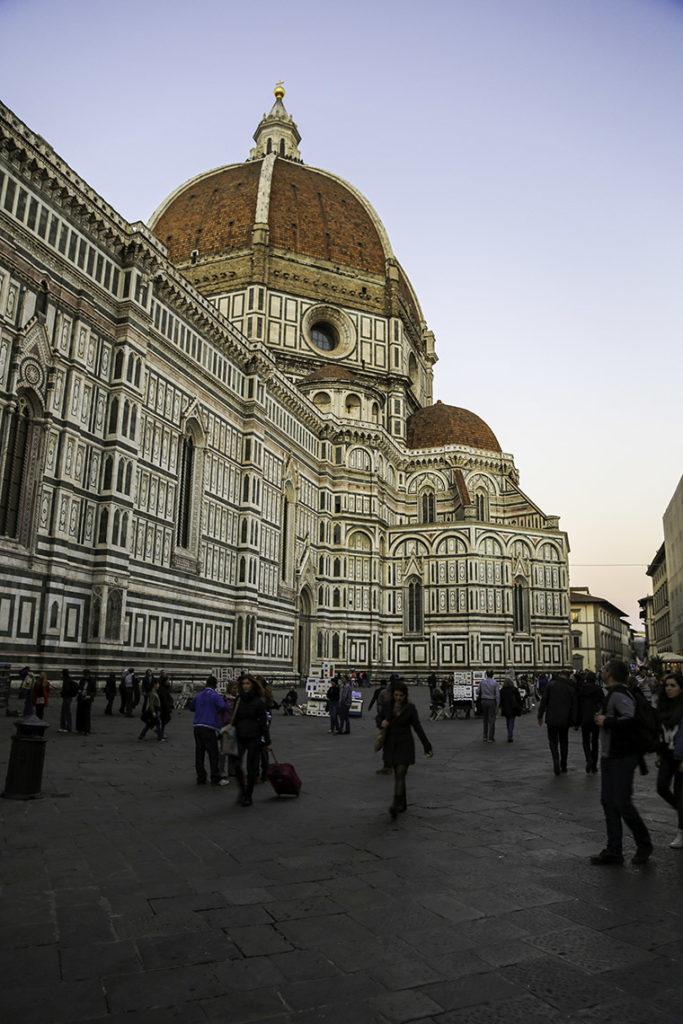 Florencja - Piazza del Duomo przy Katedrze Santa Maria del Fiore, 29 października 2014