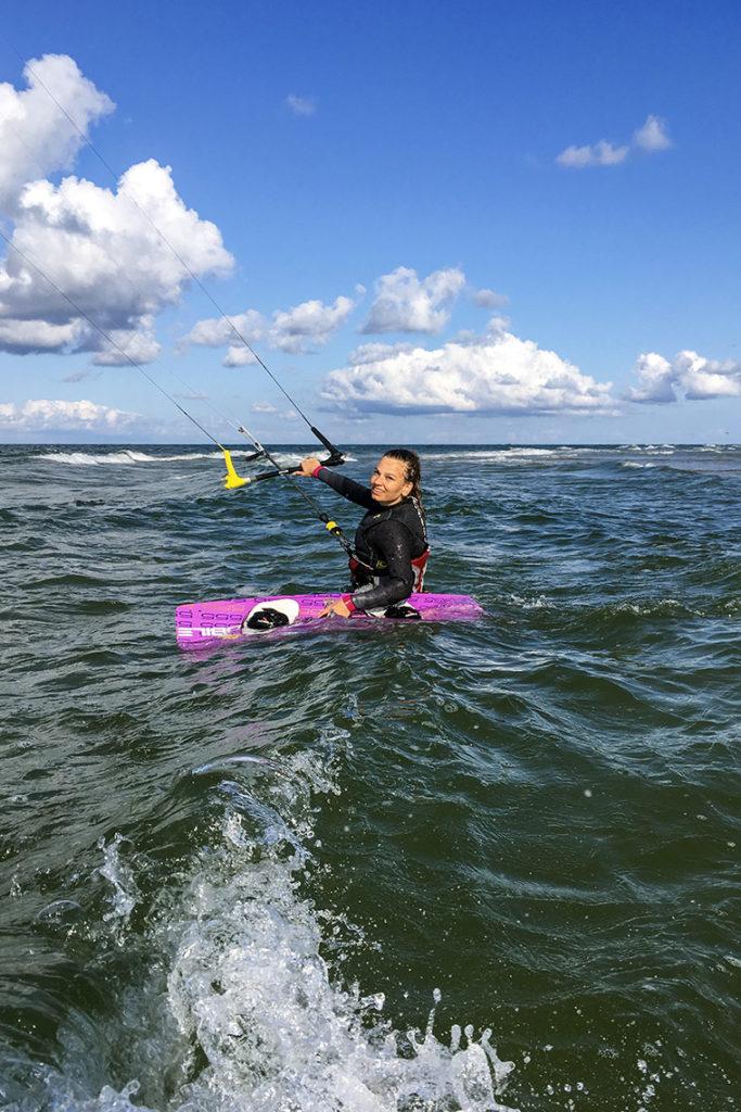 Mój pierwszy raz na kajcie na otwartym morzu ;)