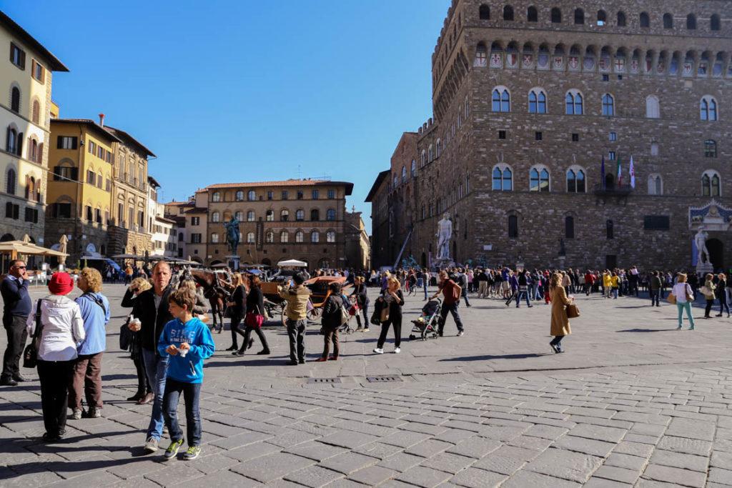Florencja - Piazza della Signoria, 30 października 2014