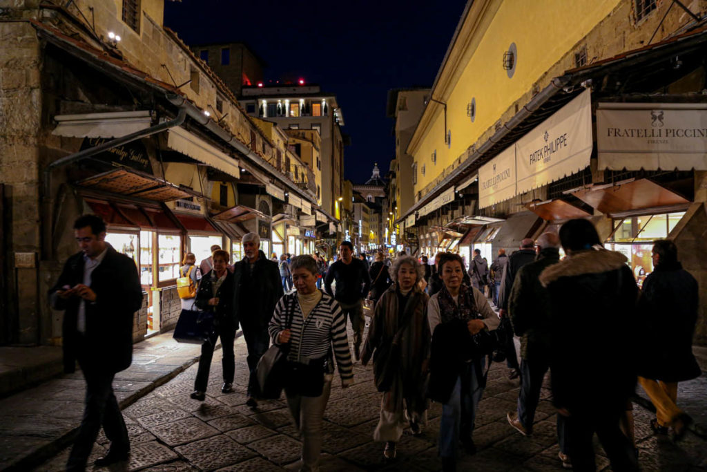 Florencja - wieczorny spacer na Ponte Vecchio, 29 października 2014