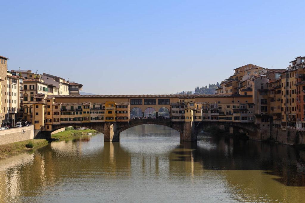 Florencja - zatłoczony most Ponte Vecchio, 30 października 2014