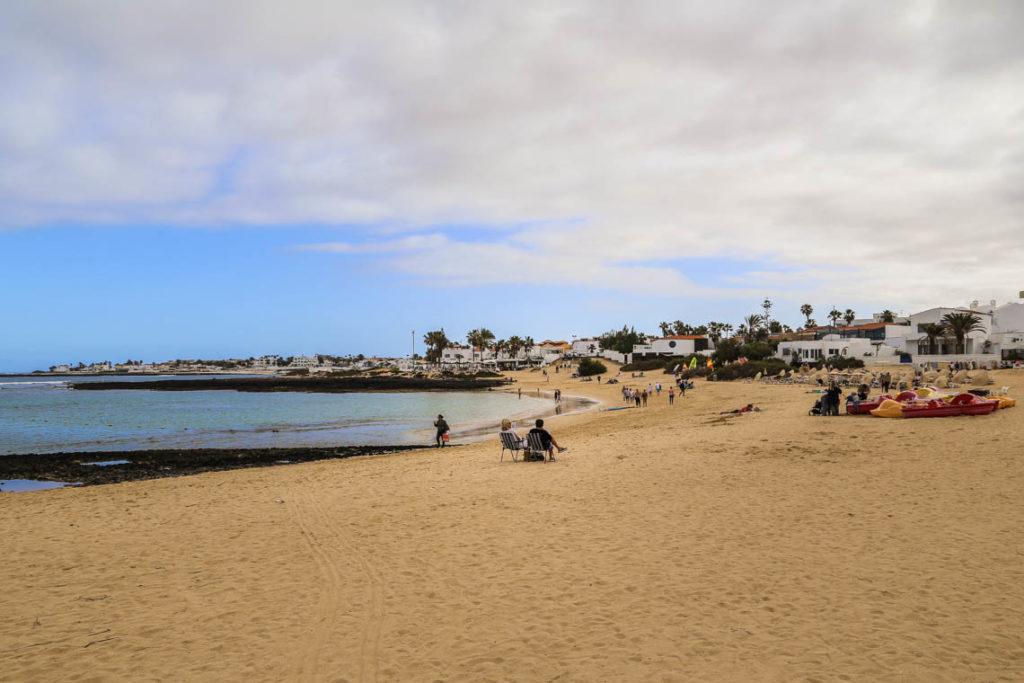 Fuerteventura - plaża w Corralejo, 12 stycznia 2018