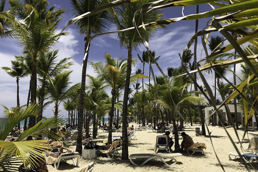 Punta Cana - hotelowa plaża w RIU Bambu, 19 maja 2019