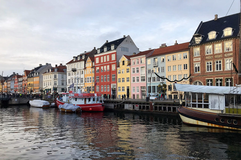 Kanał Nyhavn. Kopenhaga, Dania