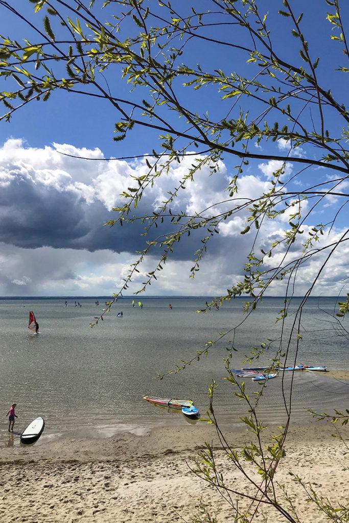 Widok na Zatokę Pucką, camping Maszoperia sun4hel