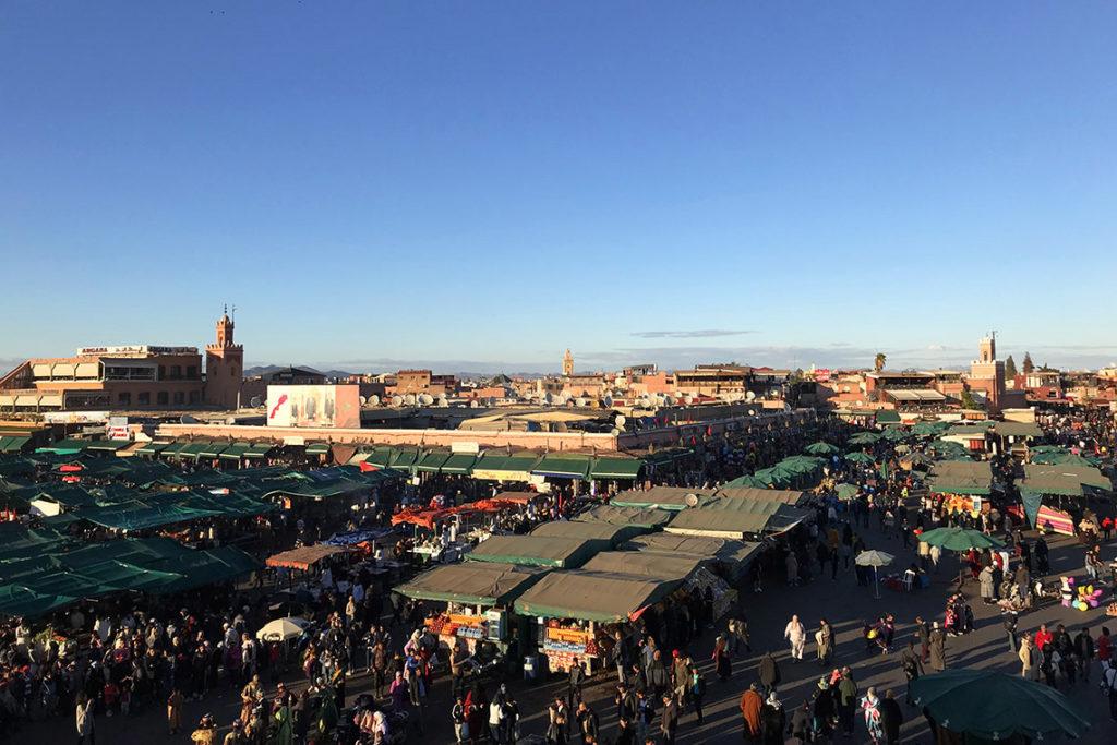 Plac Jemaa el-Fnaa. Marrakesz, Maroko