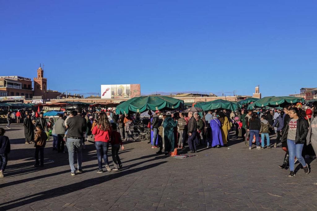 Marrakesz - plac Jemaa el-Fna, 23 stycznia 2019