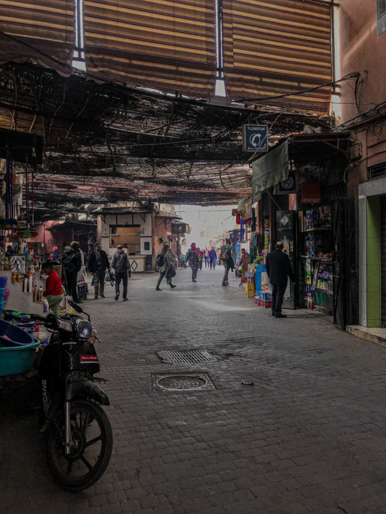 Marrakesz - uliczka w medynie, 23 stycznia 2019