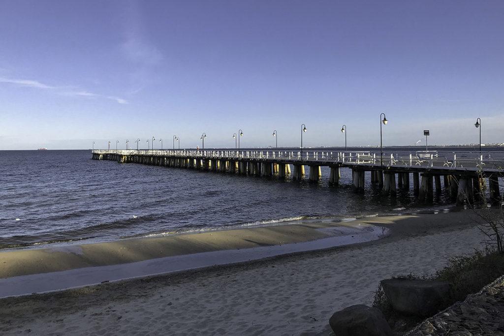 Gdynia - molo w Orłowie, 18 kwietnia 2020