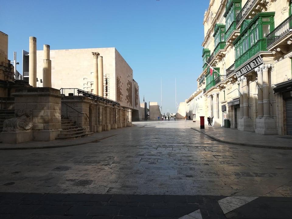 Valletta - Parliament Square, 17 kwietnia 2020. Fot. Adrienn Molnár