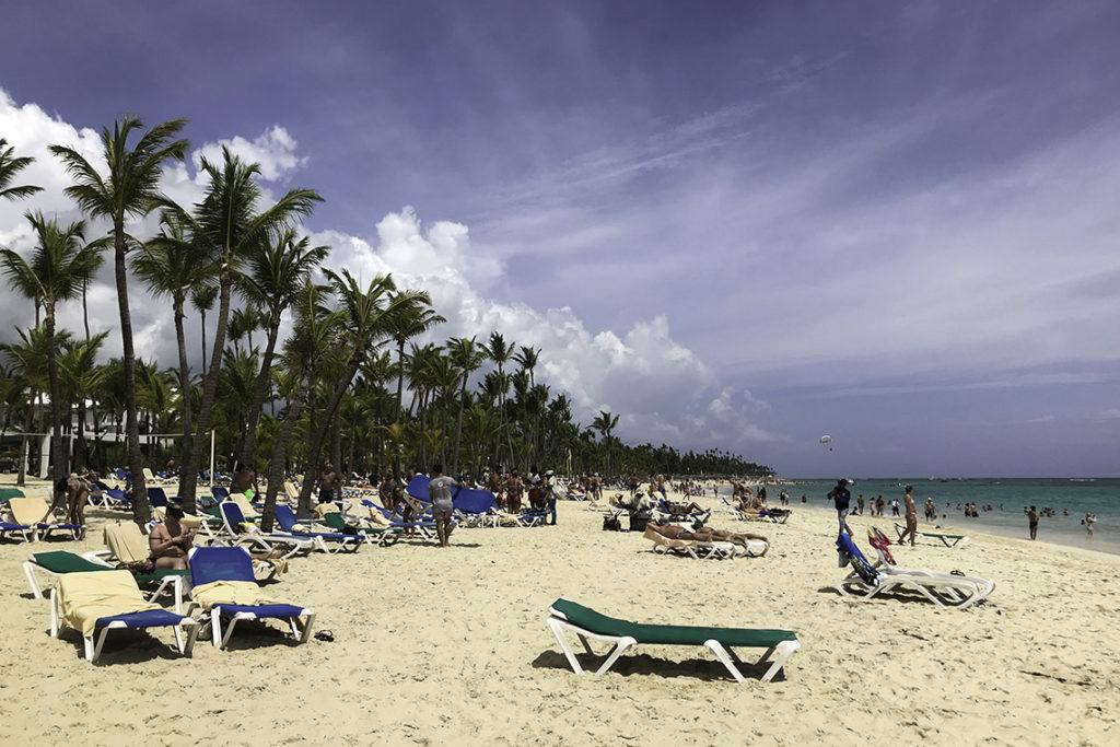 Punta Cana - plaża przy hotelu RIU Bambu, 19 maja 2019