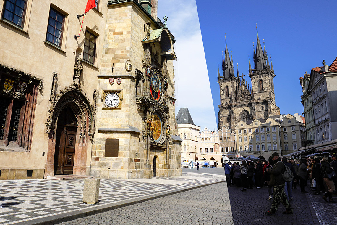 Praga przed pandemią i dziś. Fot. Mikołaj Góralik – Praski Łącznik (po lewej - 2020) i Ania Szymiec – born2travel (po prawej - 2014)